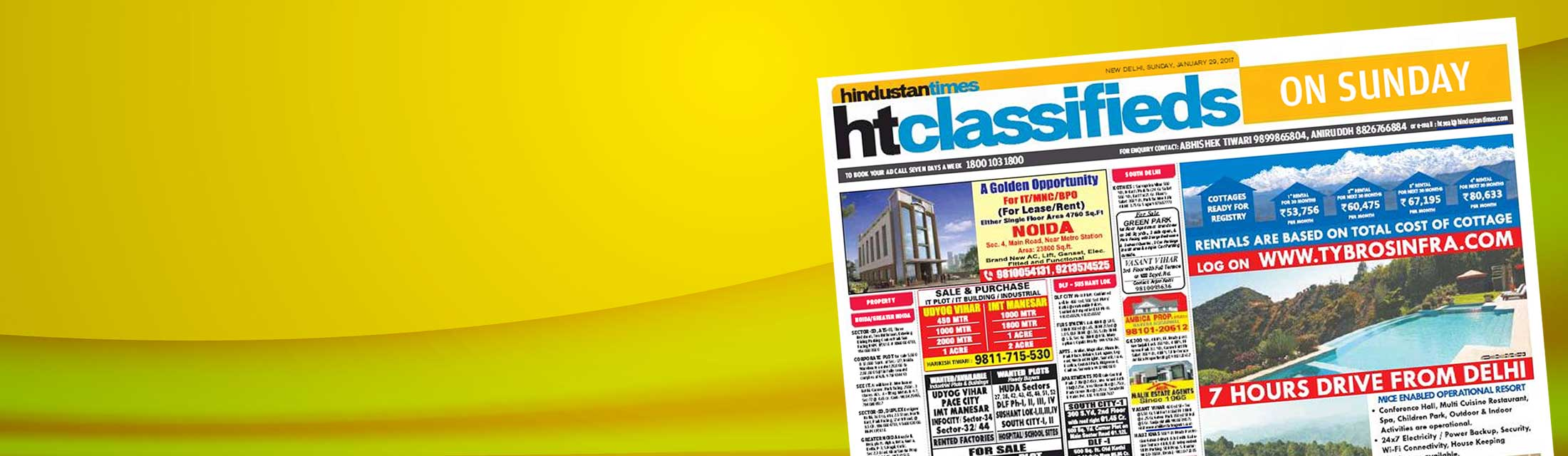 Classified Advertisement in Hindustan Times